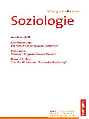 cover image of Soziologie 2.2012