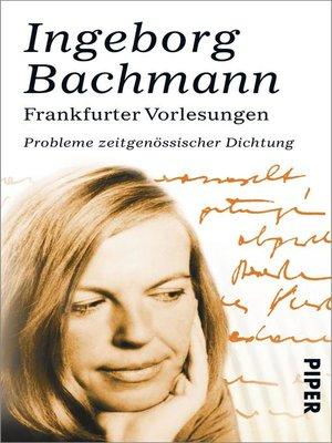 cover image of Frankfurter Vorlesungen