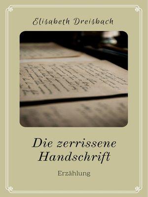 cover image of Die zerrissene Handschrift