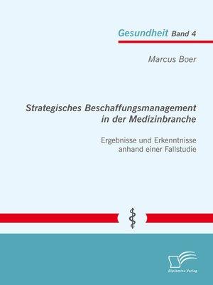cover image of Strategisches Beschaffungsmanagement in der Medizinbranche