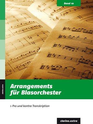 cover image of Arrangements für Blasorchester