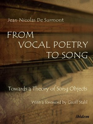 cover image of From Vocal Poetry to Song