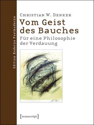 cover image of Vom Geist des Bauches