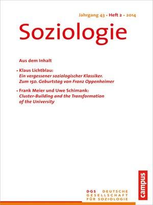 cover image of Soziologie 2.2014