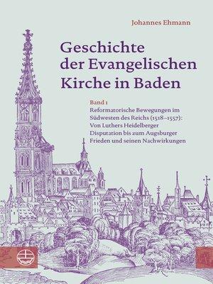 cover image of Geschichte der Evangelischen Kirche in Baden
