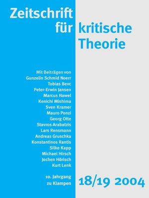 cover image of Zeitschrift für kritische Theorie / Zeitschrift für kritische Theorie, Heft 18/19