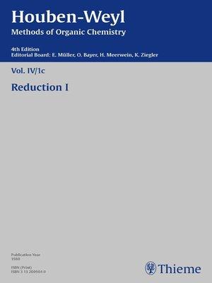 cover image of Houben-Weyl Methods of Organic Chemistry Volume IV/1c