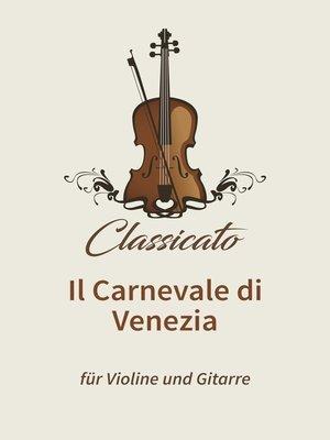 cover image of Il Carnevale di Venezia