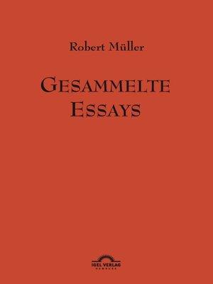 cover image of Gesammelte Essays
