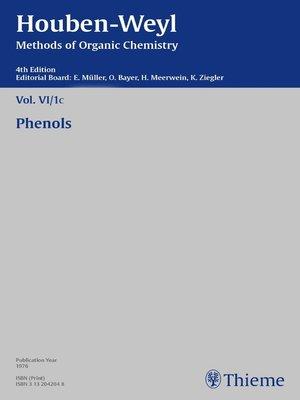 cover image of Houben-Weyl Methods of Organic Chemistry Volume VI/1c