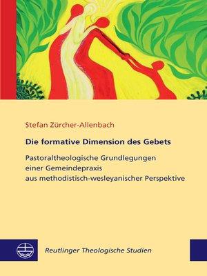 cover image of Die formative Dimension des Gebets