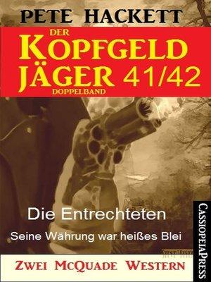 cover image of Der Kopfgeldjäger Folge 41/42  (Zwei McQuade Western)