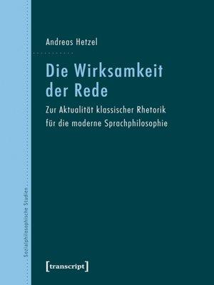 cover image of Die Wirksamkeit der Rede