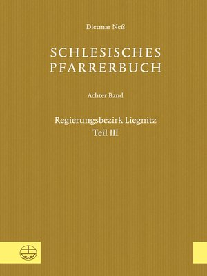 cover image of Schlesisches Pfarrerbuch