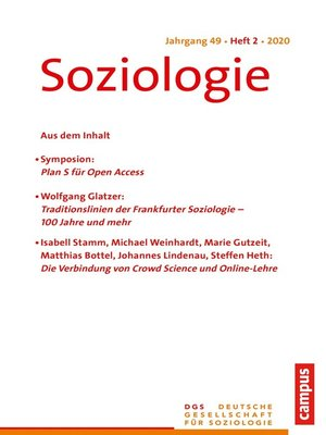 cover image of Soziologie 2/2020