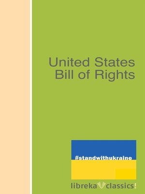 cover image of United States Bill of Rights