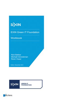 cover image of EXIN Green IT Foundation
