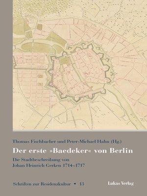 cover image of Der erste »Baedeker« von Berlin