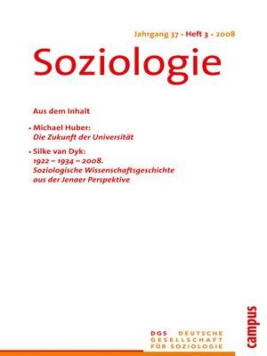 cover image of Soziologie 3.2008