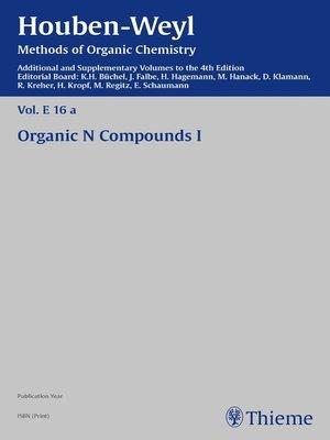 cover image of Houben-Weyl Methods of Organic Chemistry Volume E 16a Supplement