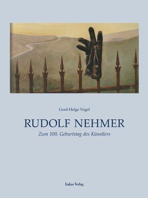 cover image of Rudolf Nehmer
