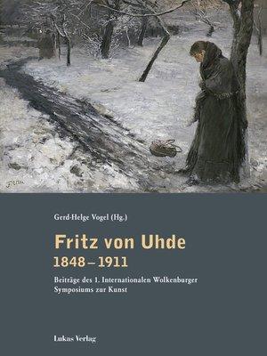 cover image of Fritz von Uhde 1848–1911