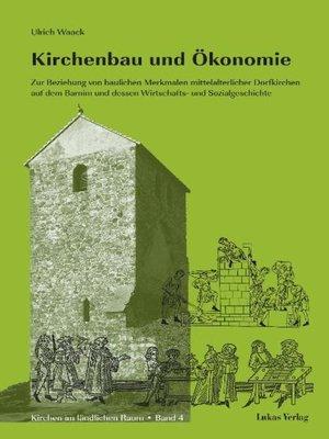 cover image of Kirchenbau und Ökonomie