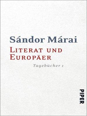 cover image of Literat und Europäer