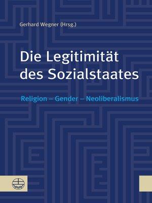 cover image of Die Legitimität des Sozialstaates