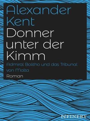 cover image of Donner unter der Kimm