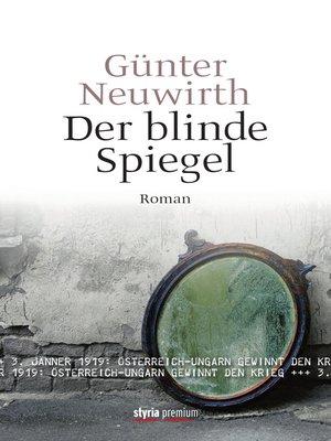 cover image of Der blinde Spiegel