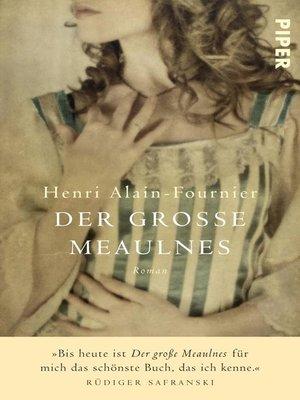 cover image of Der grosse Meaulnes