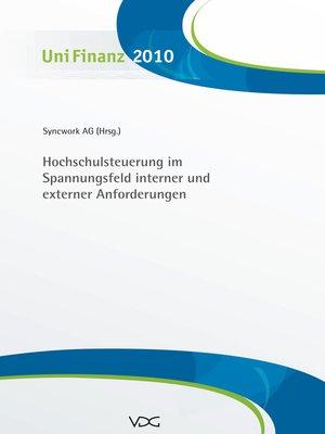 cover image of Hochschulsteuerung im Spannungsfeld interner und externer Anforderungen