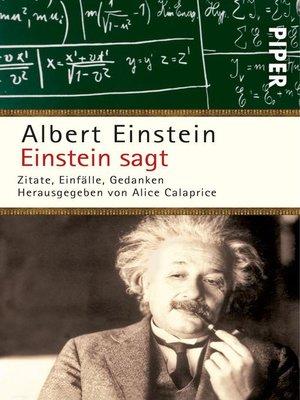 cover image of Einstein sagt