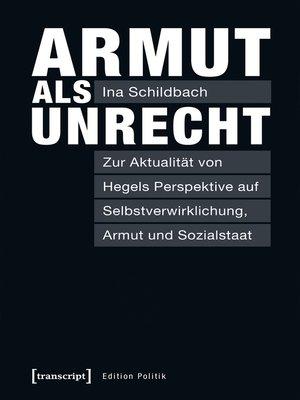cover image of Armut als Unrecht