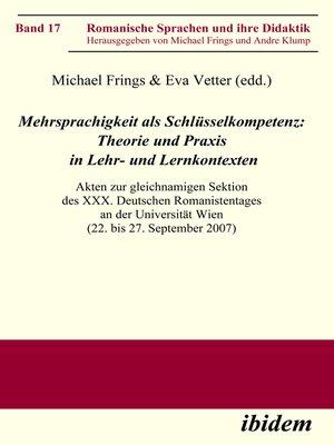 cover image of Mehrsprachigkeit als Schlüsselkompetenz