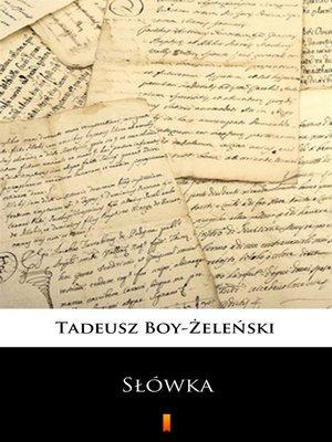 cover image of Słówka