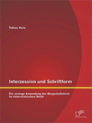 cover image of Interzession und Schriftform