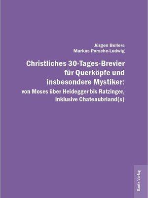 cover image of Christliches 30-Tages-Brevier für Querköpfe und insbesondere Mystiker