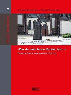 """cover image of """"Der du mein ferner Bruder bist ..."""""""