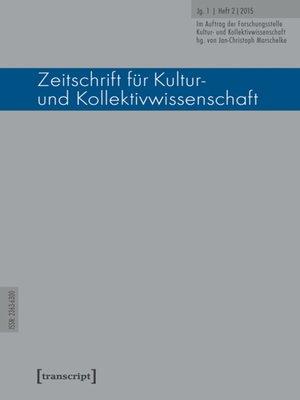 cover image of Serie Zeitschrift für Kultur- und Kollektivwissenschaft, Buch 2