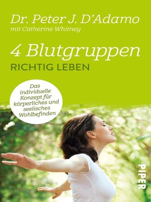 cover image of 4 Blutgruppen--Richtig leben