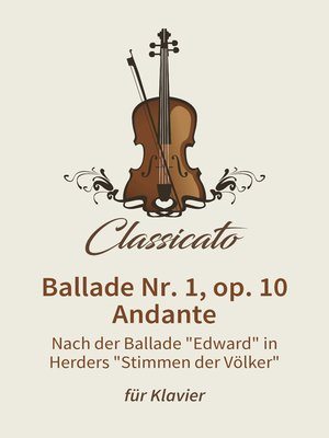 cover image of Ballade Nr. 1, op. 10, Andante