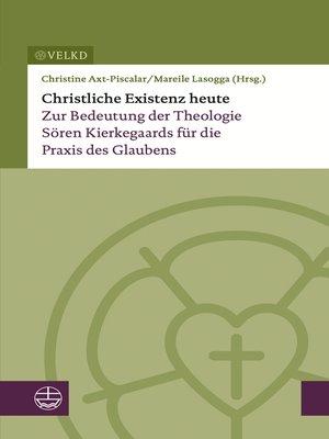 cover image of Christliche Existenz heute
