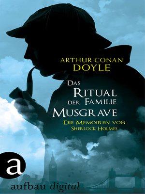 cover image of Das Ritual der Familia Musgrave