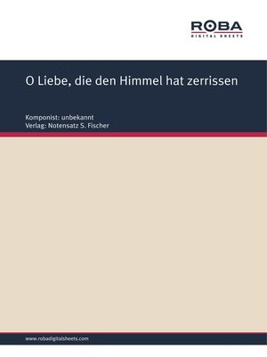 cover image of O Liebe, die den Himmel hat zerrissen