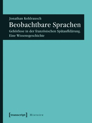 cover image of Beobachtbare Sprachen