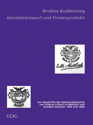 cover image of Künstlerentwurf und Firmenprodukt