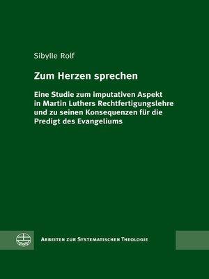 cover image of Zum Herzen sprechen