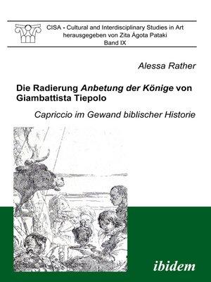 cover image of Die Radierung Anbetung der Könige von Giambattista Tiepolo